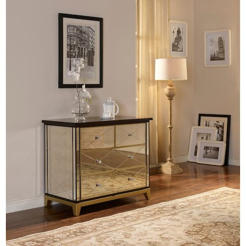 Greta Gold 4-drawer Mirror Chest