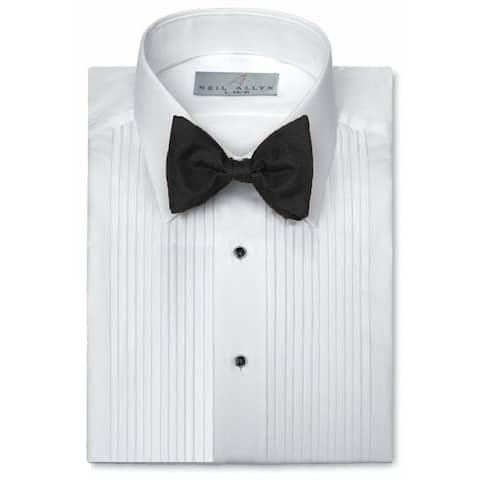 Neil Allyn Men's Tuxedo Shirt Poly/Cotton Laydown Collar 1/4 Pleat