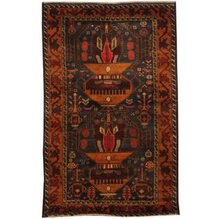 Handmade Balouchi Wool Rug (Afghanistan) - 2'8 x 4'3