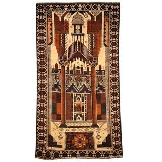 Handmade Balouchi Wool Rug (Afghanistan) - 2'6 x 5'9