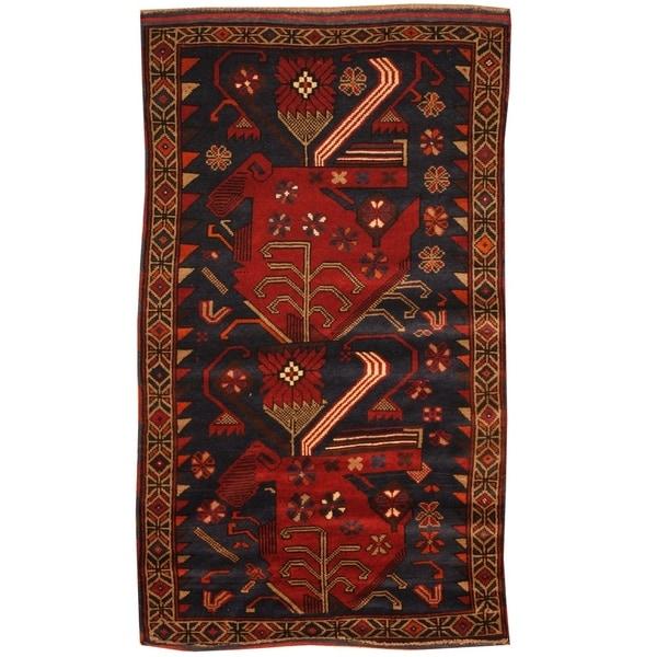 Handmade Balouchi Wool Rug (Afghanistan) - 2'7 x 4'8