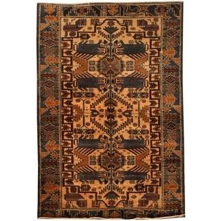 Handmade Balouchi Wool Rug (Afghanistan) - 2'9 x 4'3
