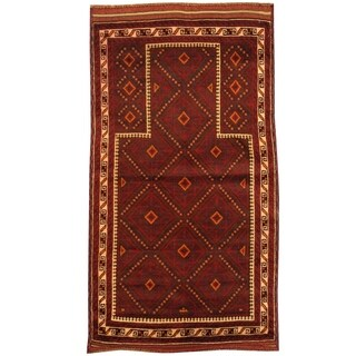 Handmade Balouchi Wool Rug (Afghanistan) - 2'6 x 4'7