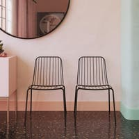 Avenue Greene Carla Wire Dining Chair (Set of 2)