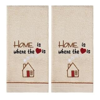 Home Heart 2 Pc Hand Towel Set