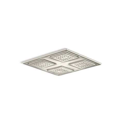 WaterTile(R) overhead shower panel with four 22-nozzle sprayheads