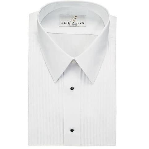Neil Allyn Men's Tuxedo Shirt Poly/Cotton Laydown Collar 1/8 Pleat
