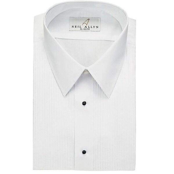 Neil Allyn Mens Tuxedo Shirt Poly/Cotton Laydown Collar 1/8 Pleat