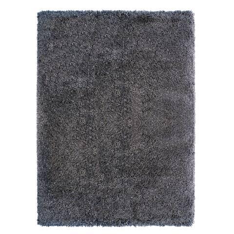 """Laura Ashley Luxury Gray Shag Area Rug (5'3"""" x 7'5"""") by Gertmenian - 5'3"""" x 7'5"""""""