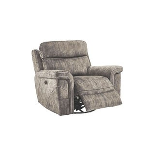 Gannon Stucco Swivel Glider Recliner with Power Footrest and Headrest