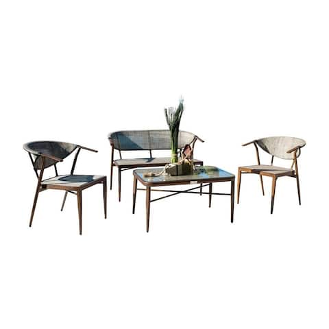 Brookwood 4 PC Living Set with Glass