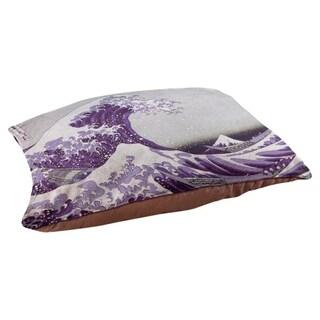 Katsushika Hokusai The Great Wave in Purple Dog Bed