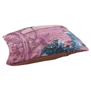 Katsushika Hokusai Japanese Courtesan in Blue and Pink Dog Bed