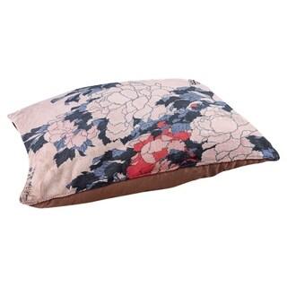 Katsushika Hokusai Peonies and Butterfly Dog Bed