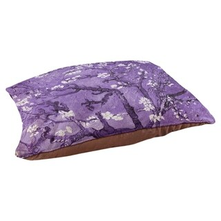 Vincent Van Gogh Almond Blossom in Purple Dog Bed