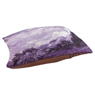 Vincent Van Gogh Purple Wheatfield with Cypresses Dog Bed