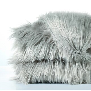 "Serenta Shag Sheepskin Silky Smooth Faux-Fur Area Rug Sofa Couch Décor - 24"" x 36"""