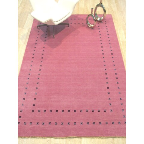 Pink Transitional Lori Baft Rug - 6' x 9'