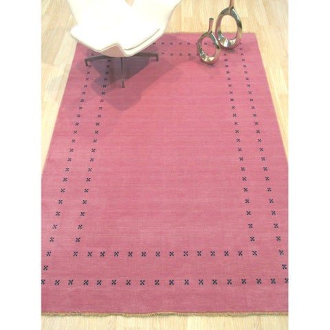 Pink Transitional Lori Baft Rug - 8' x 10'