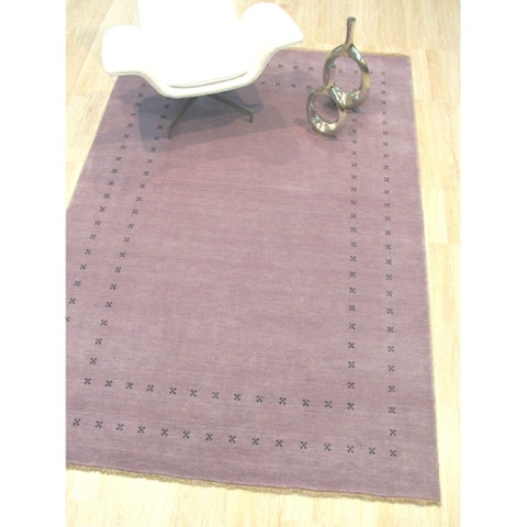 Purple Transitional Lori Baft Rug - 9' x 12'
