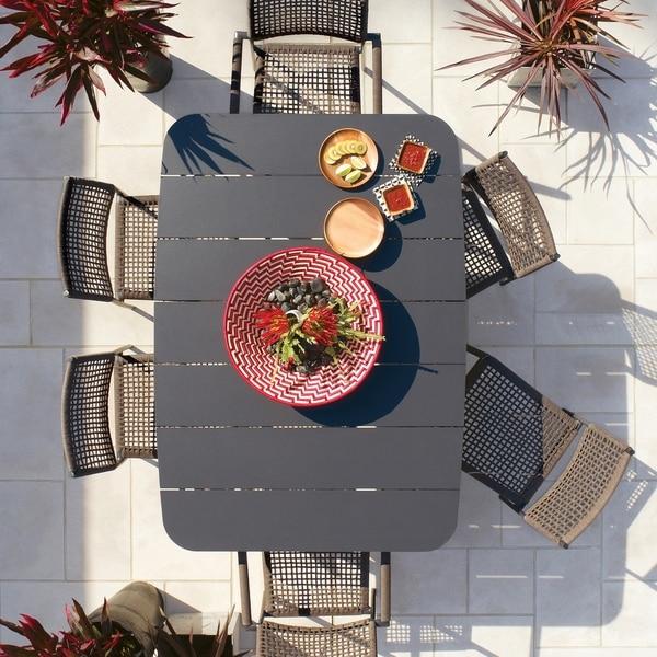 Oxford Garden Eiland 7-piece Mocha Composite Cord Dining Set