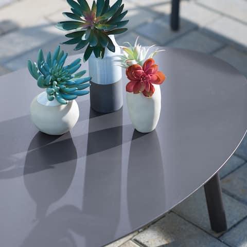 Oxford Garden Eiland Powder Coat Carbon Coffee Table