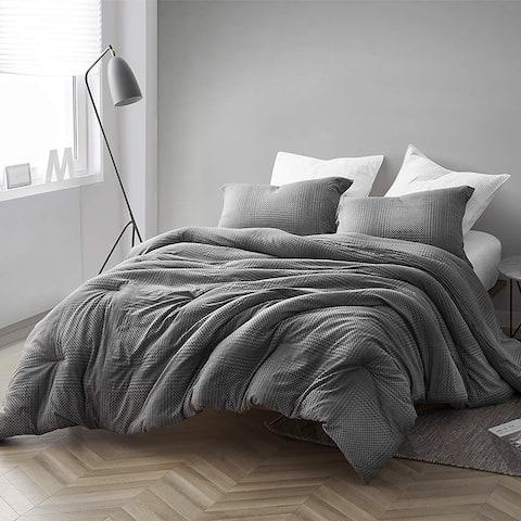 Gray Depths - Oversized Comforter - 100% Yarn Dyed Cotton Bedding