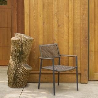 Oxford Garden Eiland Mocha Composite Cord Armchair (Set of 4)
