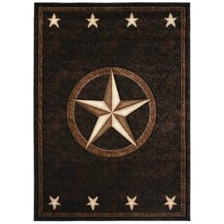 Axel Fort Worth Western Star Lodge Black Area Rug