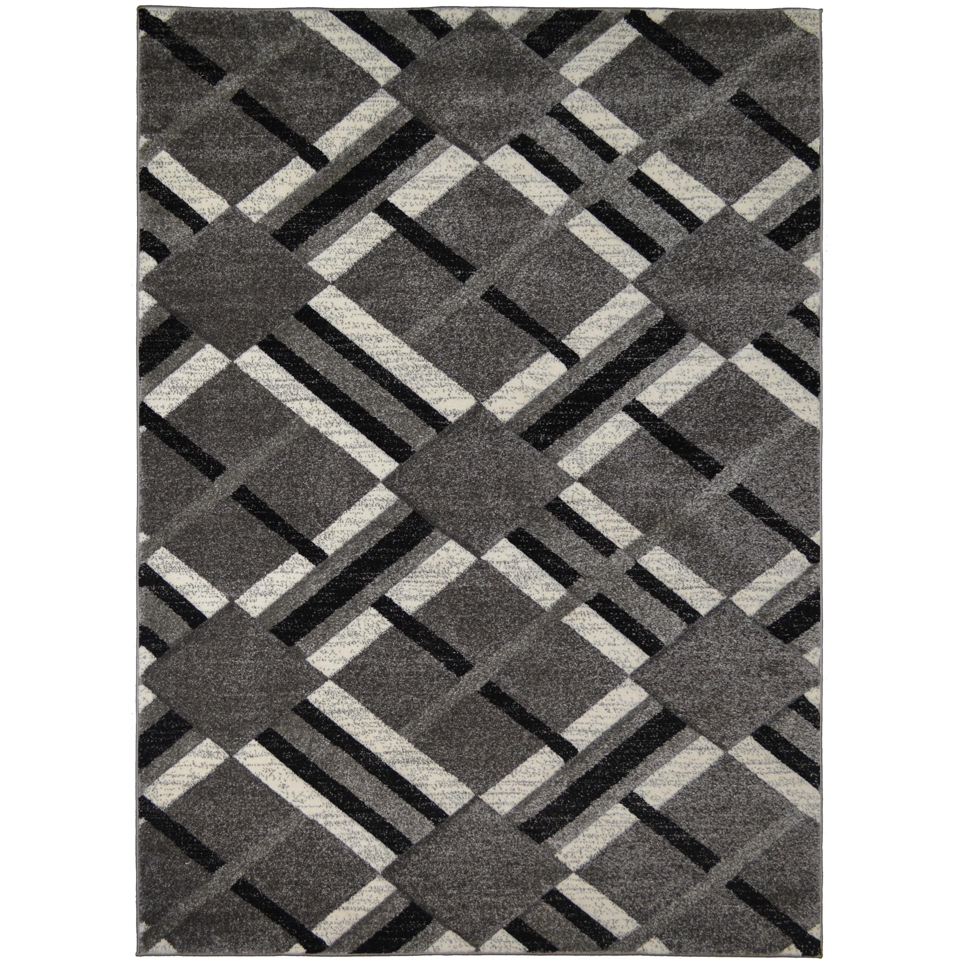 Axel Easton Black Gray Contemporary Geometric Area Rug Overstock 27089979