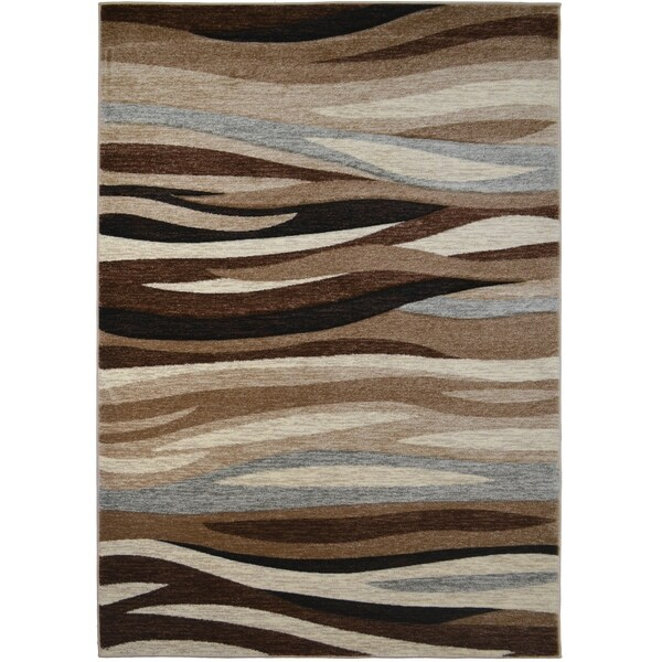 Axel Impulse Waves Striped Area Rug