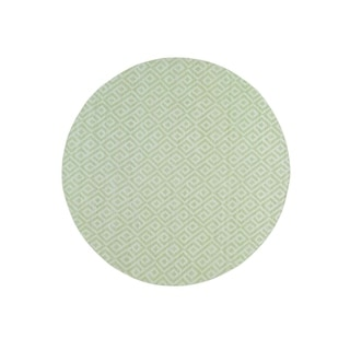 """Shahbanu Rugs Flat Weave Hand Woven Durie Kilim Reversible Round Rug (10'0"""" x 10'0"""") - 10'0"""" x 10'0"""""""