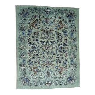 "Shahbanu Rugs Hand-Knotted Persian Kashan 100 Percent Wool Oriental Rug (10'7"" x 13'9"") - 10'7"" x 13'9"""