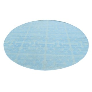 """Shahbanu Rugs Reversible Flat Weave Round Hand Woven Durie Kilim Rug (6'0"""" x 6'1"""") - 6'0"""" x 6'1"""""""