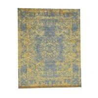 "Shahbanu Rugs Hand-Loomed Wool and Art Silk Broken Kashan Design Oriental Rug (8'10"" x 12'0"") - 8'10"" x 12'0"""