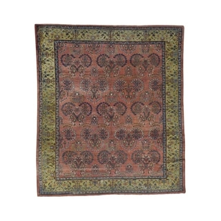 "Shahbanu Rugs Antique Persian Mahal Good Condition Hand-Knotted Oriental Rug (8'7"" x 9'10"") - 8'7"" x 9'10"""