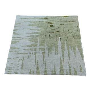 "Shahbanu Rugs Abstract Design Modern Wool and Silk Hand-Knotted Oriental Rug (2'0"" x 2'0"") - 2'0"" x 2'0"""