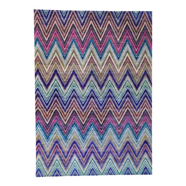 Chevron Knot Rug Ivory: Shop Shahbanu Rugs Hand-Knotted Chevron Design Sari Silk