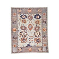"""Shahbanu Rugs Peshawar with Antiqued Sultanabad Design Hand-Knotted Oriental Rug (8'2"""" x 10'0"""") - 8'2"""" x 10'0"""""""