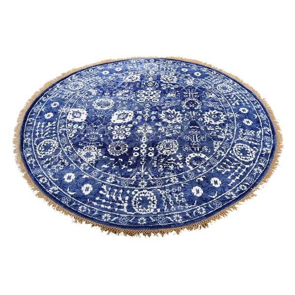 Hand Knotted Persian Tabriz Wool Area Rug Ebth: Shop Shahbanu Rugs Hand-Knotted Tabriz Tone On Tone Round