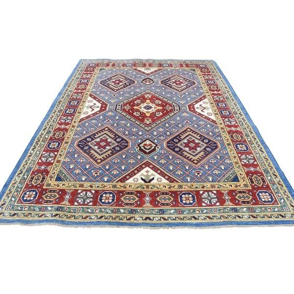 "Shahbanu Rugs Sky Blue Special Kazak Pure Wool Hand-Knotted Oriental Rug (5'1"" x 6'6"") - 5'1"" x 6'6"""