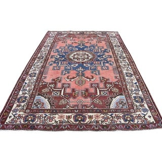 "Shahbanu Rugs Vintage Persian Bakhtiari Hand Knotted Pure Wool Oriental Rug (4'4"" x 6'4"") - 4'4"" x 6'4"""