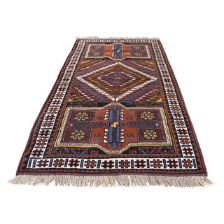 "Shahbanu Rugs Pure Wool Hand Knotted Persian Northwest Oriental Rug (3'9"" x 6'5"") - 3'9"" x 6'5"""