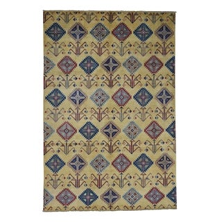 """Shahbanu Rugs Special Kazak With Southwestern Design Hand-Knotted Oriental Rug (6'1"""" x 9'1"""") - 6'1"""" x 9'1"""""""