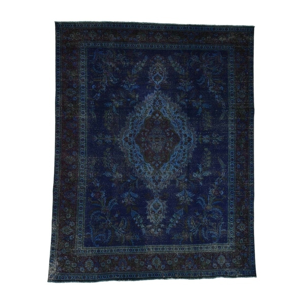 Vintage Persian Bokhara Wool Area Rug 10 X 13: Shop Shahbanu Rugs Hand Knotted Pure Wool Vintage Overdyed