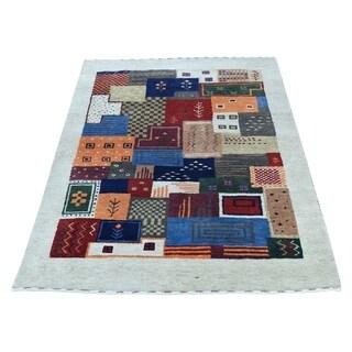 "Shahbanu Rugs Hand-Knotted Lori Buft Gabbeh 100 Percent Wool Oriental Rug (2'0"" x 3'0"") - 2'0"" x 3'0"""