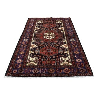"""Shahbanu Rugs New Persian Malayer Pure Wool Hand-Knotted Oriental Rug (4'3"""" x 6'5"""") - 4'3"""" x 6'5"""""""