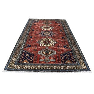 """Shahbanu Rugs New Persian Malayer Pure Wool Hand-Knotted Oriental Rug (4'1"""" x 6'4"""") - 4'1"""" x 6'4"""""""