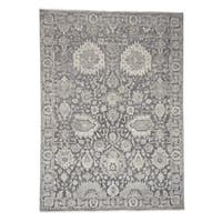 """Shahbanu Rugs Silk With Oxidized Wool Hand Knotted Oushak Influence Oriental Rug (9'0"""" x 12'4"""") - 9'0"""" x 12'4"""""""