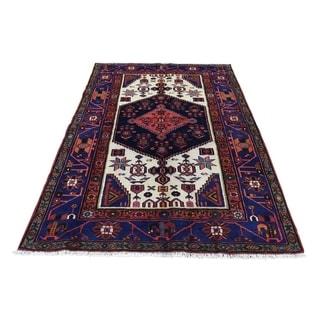 "Shahbanu Rugs New Persian Hadaman Hand-Knotted Pure Wool Oriental Rug (4'3"" x 6'5"") - 4'3"" x 6'5"""
